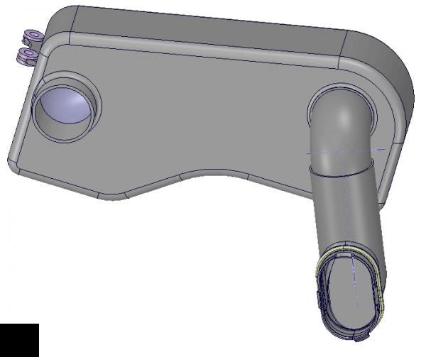 Jeden z prvních modelu koncepce pro přívod vzduchu.